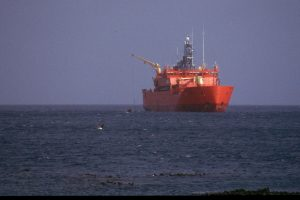 Ship in the southern ocean (Ailsa Hall)